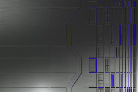 Futuristic technological or industrial background made from brus フォト