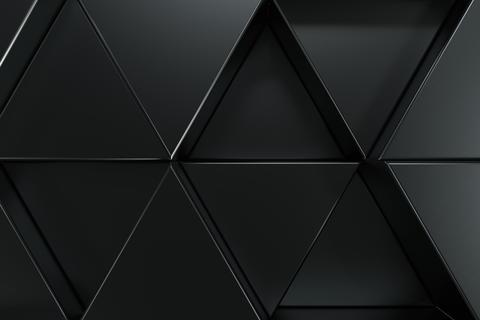 Pattern of black triangle prisms フォト