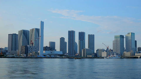View of skyscrapers in Odaiba, Tokyo Bay Archivo