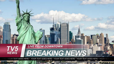Breaking news graphic package 애프터 이펙트 템플릿