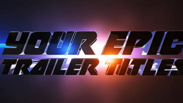 Epic Trailer Titles 01 Template After Effect