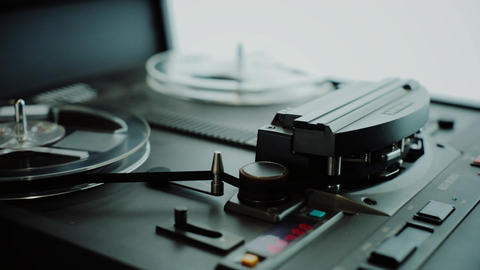 Audio tape recorder Stock Video Footage
