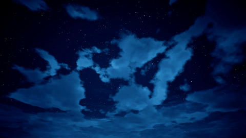 Time lapse of cloudscape with stars Animación