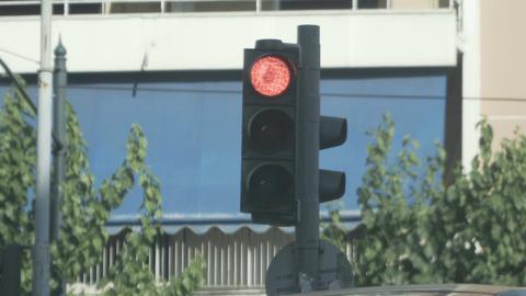 collection of varius traffic light shots Filmmaterial