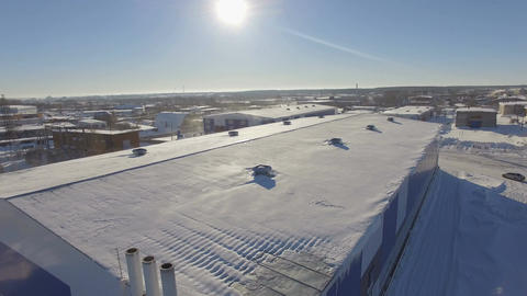 Drone View Industrial Building on Gas Enterprise Territory Footage