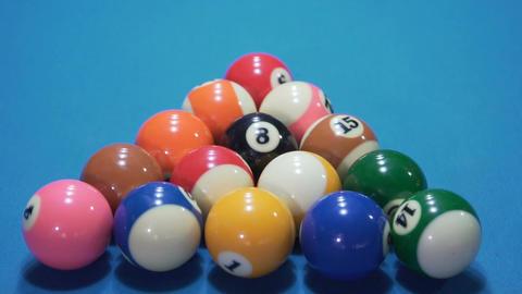 Billiard balls slow motion Footage