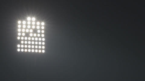 Night scene video with sport arena floodlights Image