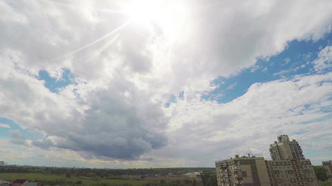 Time lapse of the movement of clouds in the sky 영상물