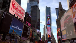 USA New York City Manhattan classical Times Square perspective Footage