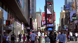 USA New York City Manhattan city life on Times Square Footage