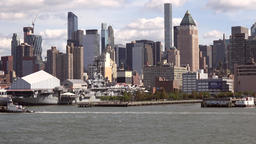 USA New York City Manhattan Hell's Kitchen with Worldwide Plaza Footage