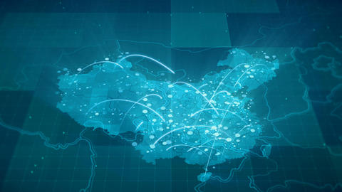 China Map Globalization 4K Animación