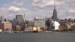 USA New York City Manhattan Chelsea and midtown with Empire State building Footage