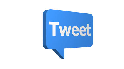 Tweet Speech Bubble Rotating Constant Speed With Alpha Animation