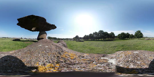 360VR video of Floating pebbles in Dalfsen, Netherlands Footage