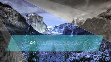 4k Clean Elegant Slideshow After Effects Template