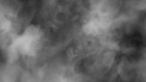 Flying Through the Fog 4k - Grayscale Smoke Fast Animación