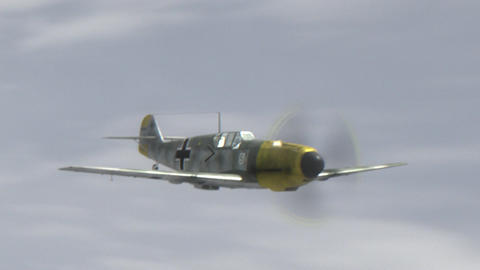 Messerschmitt Bf.109 World War II German Combat Aircraft Animación