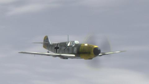 Messerschmitt Bf.109 World War II German Combat Aircraft Animación