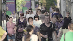Crowd. Megapolis. A crowded street. Many people Footage