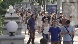 Crowd. A crowded street. Many people Footage