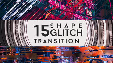 Glitch Shape Lower Third Plantilla de After Effects