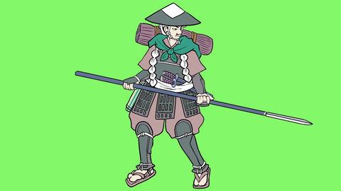 samurai foot soldier Animation
