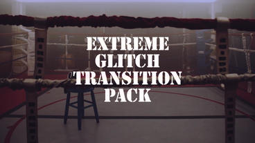 Extreme Glitch Transition Pack Premiere Pro Template