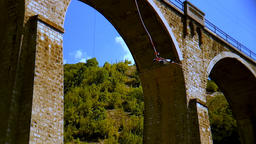 Bungee jumping Bunovo Bridge near Sofia 画像