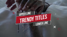 Trendy Titles Motion Graphics Template