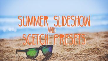 Scetch Presets & Summer Slideshow Premiere Pro Template