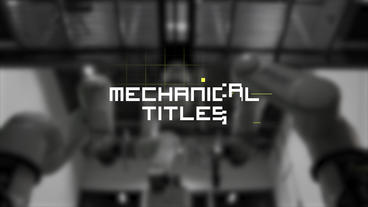 Mechanical Titles Premiere Pro Template
