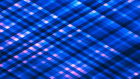 Broadcast Twinkling Diamond Hi-Tech Strips, Blue, Abstract, Loopable, 4K Animation