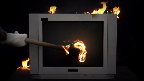 Splitting the TV With a Sledge Hammer Image