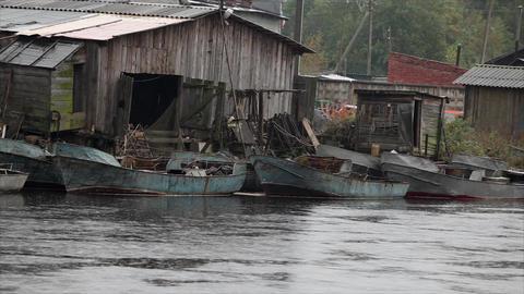 fishing village Stock Video Footage
