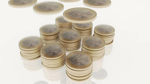 euro-coins-06 Stock Video Footage