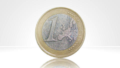 euro coin france turn around 01 Stock Video Footage