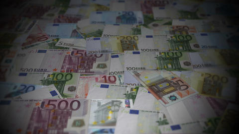 Euro-bills-travelling-01 Stock Video Footage