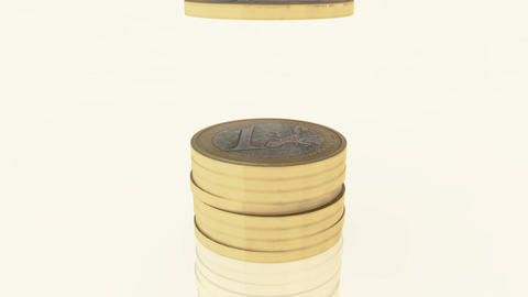 Euro-coins-pile-01 Stock Video Footage