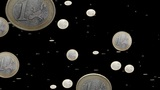 Euro coins particles 01 Animation