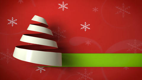 christmas tree paper curl 03 Stock Video Footage