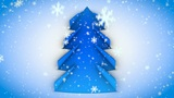 christmas tree paper curl snow 02 Animation