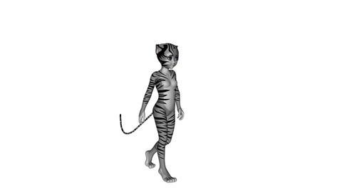 猫人間 Stock Video Footage