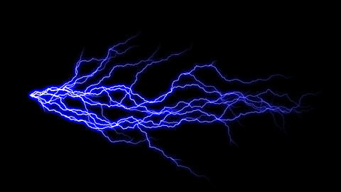 HD Thunder Animation with Alpha Channel Stock Video Footage
