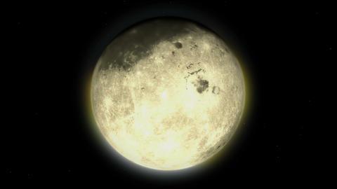 Moon evolution 02 Stock Video Footage