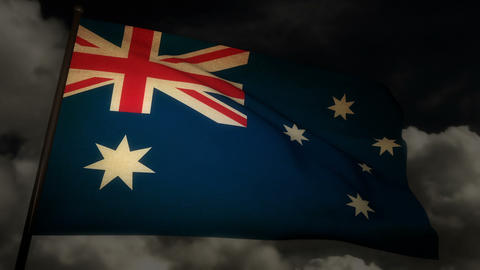 Flag Australia 02 Stock Video Footage