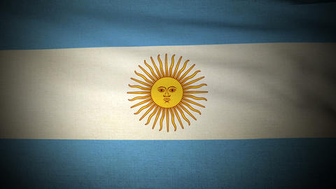 Flag Argentina 04 Stock Video Footage