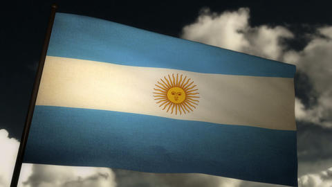 flag Argentina 02 Stock Video Footage