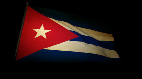 Flag Cuba 01 Stock Video Footage