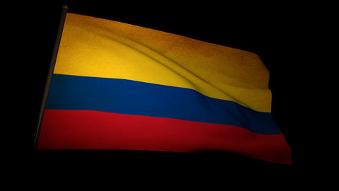 Flag Colombia 01 Stock Video Footage